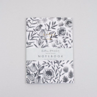 Katie Housley Grey Floral Notebook